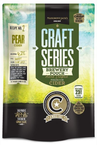 """Mangrove Jack's Craft Series """"Pear Cider Pouch"""" 2.4kg"""