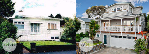 Newell St, before and after homepage (round text box)