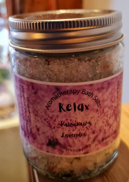Relax Kawakawa Lavender Bath Salts
