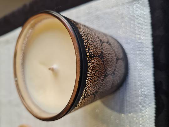 Mosaic soy fragrant candle