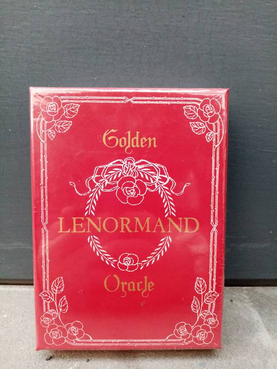 Golden Lenormand Tarot deck