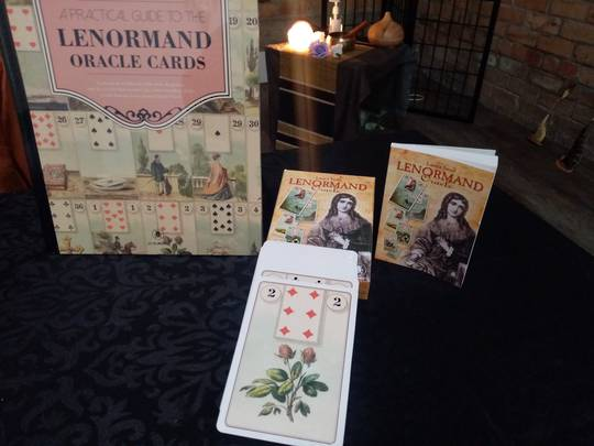 Lenormand Oracle bundle (card deck and book)