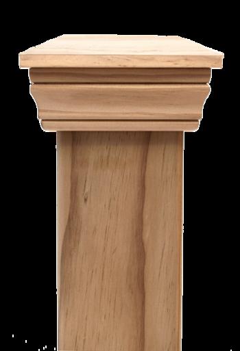 Replica PLAIN 45 series post cap to suit 100x75 Rough Sawn Posts