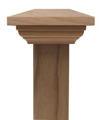 Contemporary PLAIN post cap to suit 400x400 Rough Sawn Posts