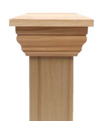 Replica PLAIN 90 series post cap to suit 125x125 Rough Sawn Posts