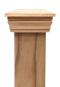 Replica PLAIN 45 series post cap to suit 100x75 Rough Sawn Posts