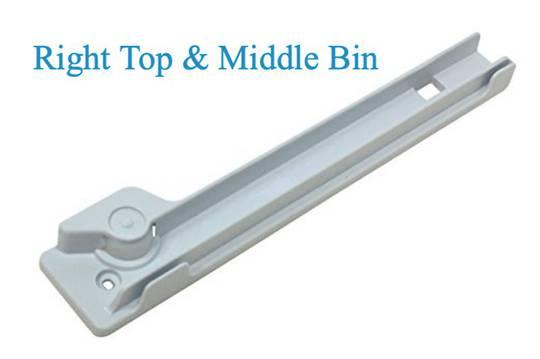 Bosch Fridge Veggie Bin Vegitable container rail slide right top and med KAN56V10AU, KAN58A40, KAN58A70, KAN58A50