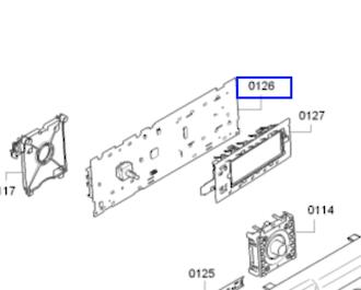 Bosch Washing Machine PCB DISPLAY CONTROL MOUDLE  WAY32840AU/02 ,