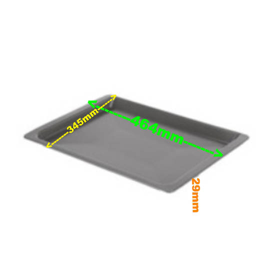 Bosch Oven Tray Shelf Baking tray 40mm pyro (46,4 x 34,5 x 4 cm), *2279