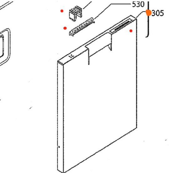 AEG DISHWASHER Front Door PANEL FFE83800PM INOX, *33013