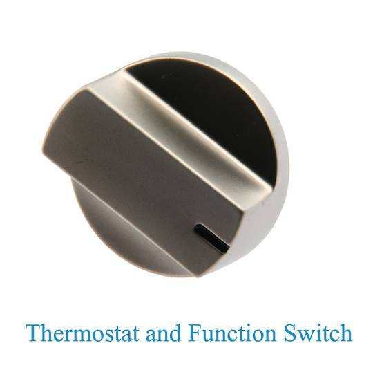 Delonghi Oven Knob for Thermostat and Selector Switch and Light D906gwf, D926GWF, L91GW,