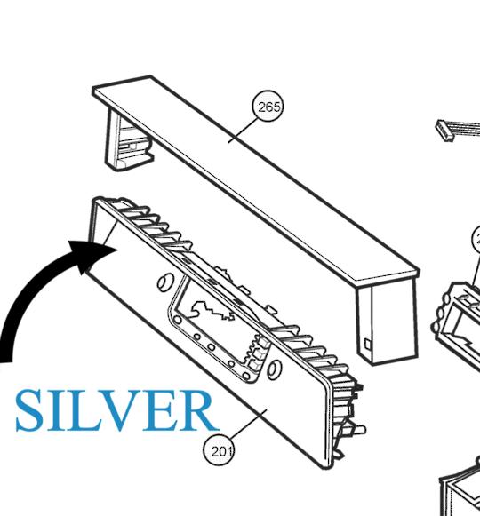 Westinghouse Dishwasher Control Panel frame silver Panel Facia WSF67381S PNC 942001293 01,