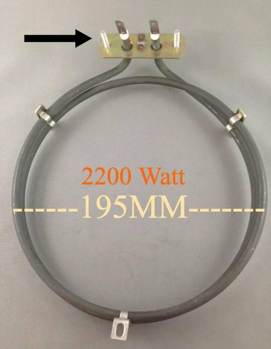 Baumatic Oven Fan Element Heater BK2850SS, BK2460SS, BK3000SS,