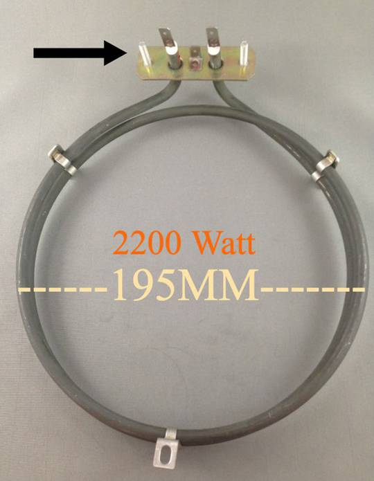Euromaid Oven fan forced Element Heater GENUINE PART 2100W S7F-4, S10FF-6, G10FF-4B, G10FF-4C, G10-FF-4T, G10FF-6, G9F-4, S10FF-