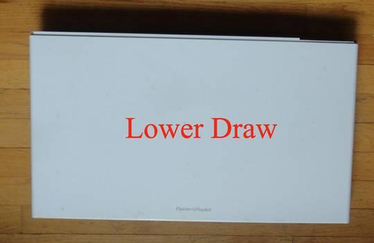 Fisher Paykel Dishdraw Front panel lower draw DD60DCW6, 80588-A,DD60SCW6,DD60SCT, 80711-A,DD60DCW6,