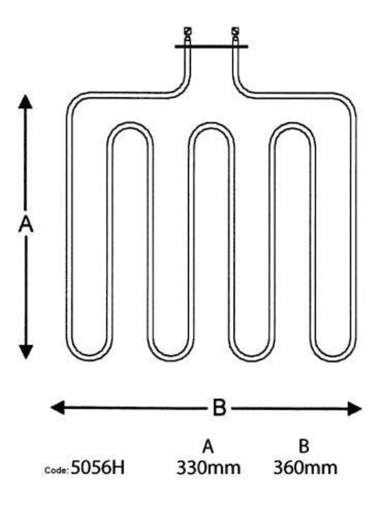 ELBA OVEN Bake Lower Element OR61S2, OR61S4, OR61S8,