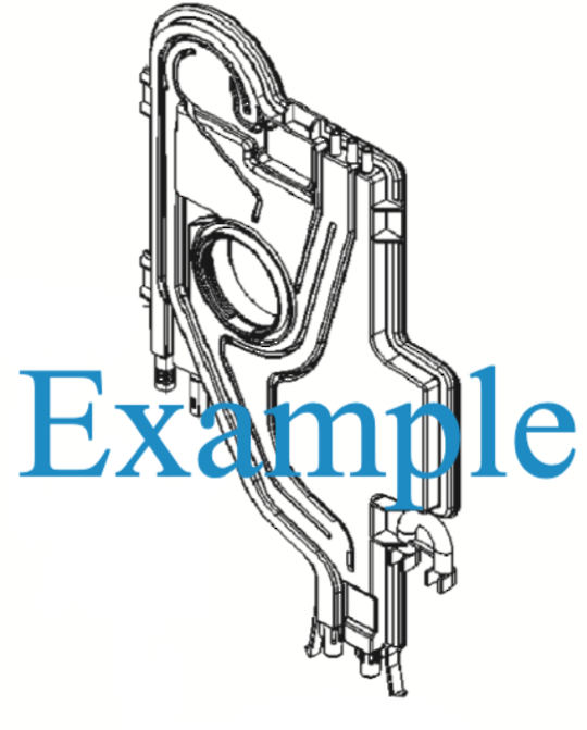 Smeg Dishwasher Water Chamber Air Break  STH903, *10188