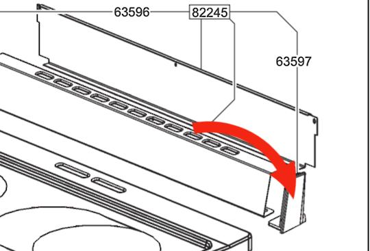 Smeg Oven rear pasnel side cover left side, 63596,  *70295