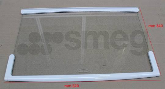 Smeg Fridge GLASS SHELF TOP FAB32P4, FAB28, FAB30, FAB32, **523mm X 335mm ***