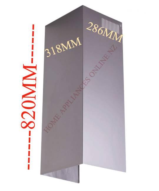 Fisher Paykel Rangehood Chimney extension  HC90DCXB1, HC120DCXB1, HC60DCXB,