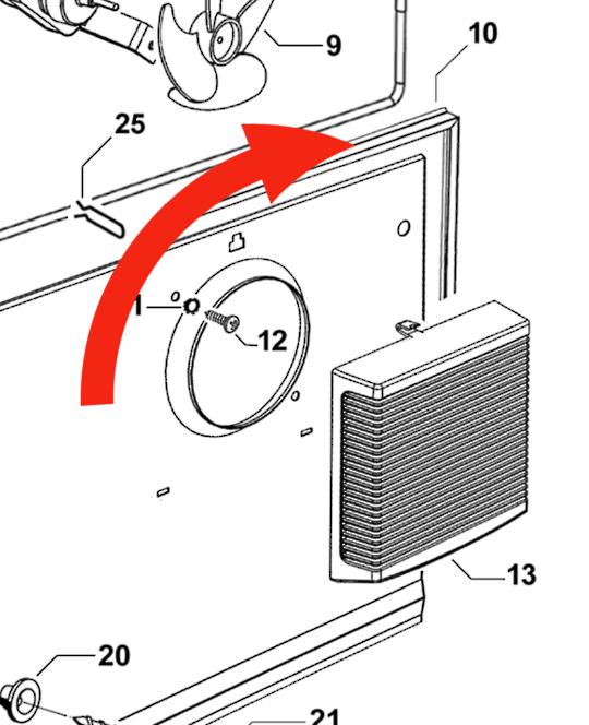 Fisher Paykel Back panel seal Inside of Freezer  C170T, C250T, N169T, N249T, E249T, RF249T, RF169T,