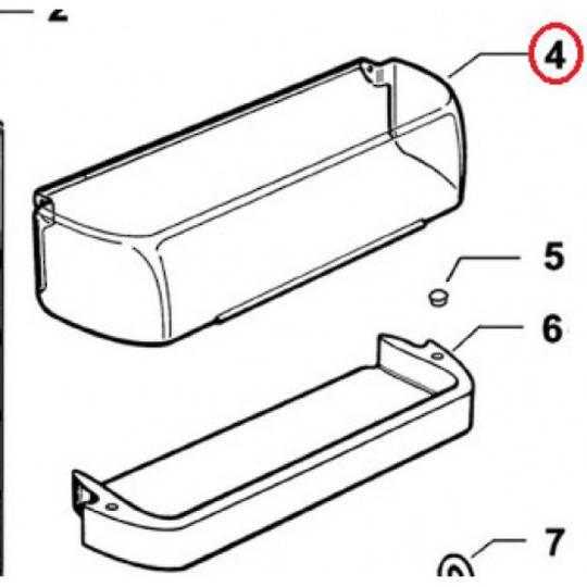 Elba Fisher Paykel fridge door UPPER shelf COVER LID  c190l, c270l, e162tl, e240bl, e249t, e249, e240,
