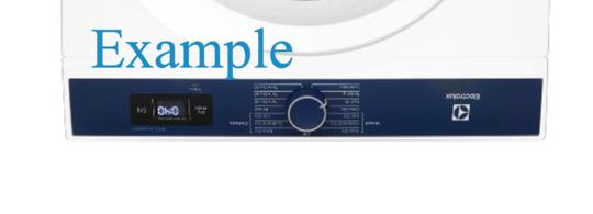 Electrolux Dryer TRIM INSERT Decal REVERSE inverted  EDV605HDWA, Edv605hqwa,