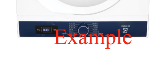 Electrolux Dryer TRIM INSERT Decal REVERSE inverted EDV705HQWA,