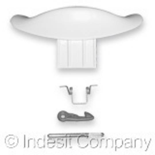 Indesit Washing Machine White Door Handle LBE12X, BE88ALL-80323070000,