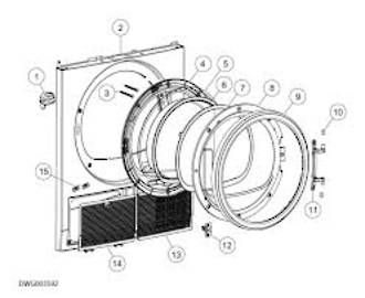 fisher paykel dryer door Glass Porthole DH8060P1, HDC80E1