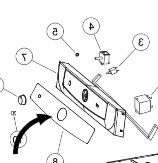 Haier Dryer Decal Inverter HDY-M60 upsides down sticker, *0411A