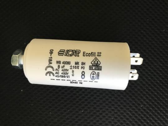 Dishwasher Dryer Washing machine all Appliances Universal capacitor 8uf, PVC case 400v - 450v 8uf
