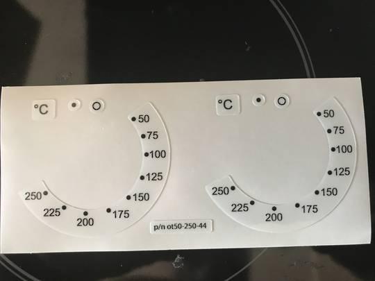 oven control panel decal sticker SYMBOLS label 8,