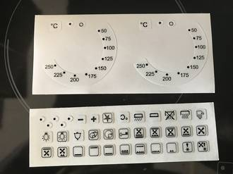 oven control panel decal sticker SYMBOLS label 5,