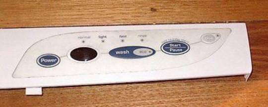 Fisher Paykel dishwasher control panel nautilus DW920. White