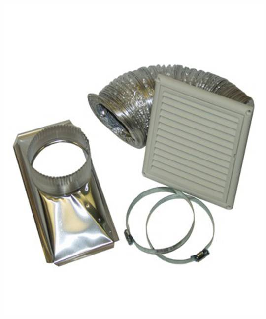 Fisher Paykel and Other Brand Dryer Ventilation Kit  Rangehood Wall Ducting Kit - Flexible Ducting-125mm Outlet,