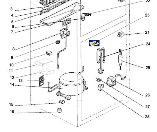 Mitsubishi fridge pcb temperature Board Sensor MR385, MR420