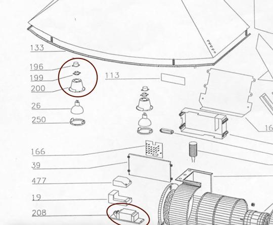 Smeg Range Hood Halogen Lamp Assembly k273,