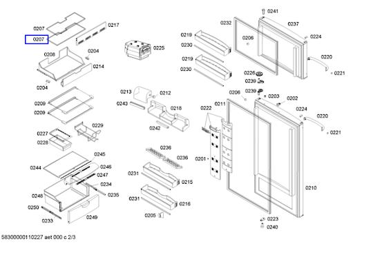 Bosch freezer shelf ksu405916w,