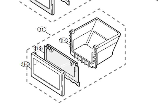 Samsung Fridge Lowest Vege Drawer  srs603hls, SRS589DBG,