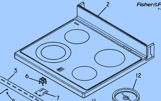 Elba Fisher Paykel Freestanding Oven Top Glass Ceramic  RA6102, RA6102M, RA6103M, OR61S2CAWSW1, OR61S8CEWSW3, OR61S8CEWSW4, OR61