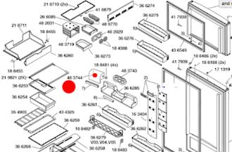 Bosch Fridge door shelf upper cover lid or cover left or right  KSU445906W, KSU405906, KSU405206K, KSU405204O.,