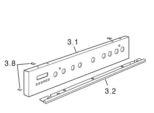 Delongi Oven Control Panel D926GWF,