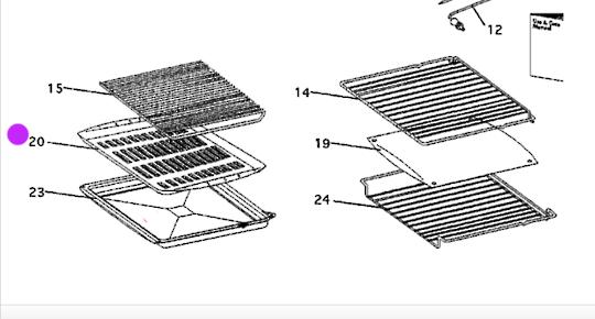 Fisher Paykel Elba Oven GRID GRILL Tray bi602, bi601, ra6102, nla