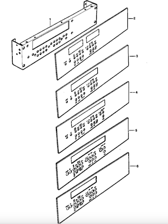 Fisher  Paykel Shacklock Oven Display Decal M570A, M570E, TM570D, XM570, XM570D, XM570X, TCM570, M620, M645, M754, 75