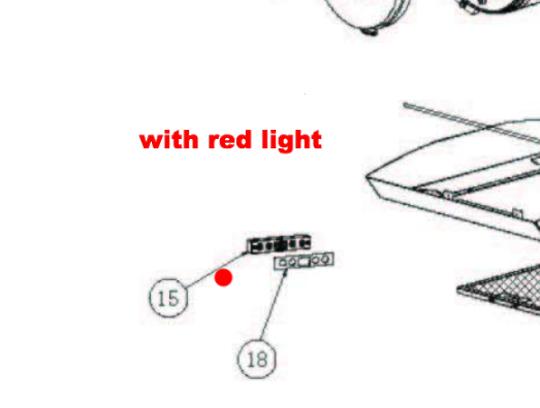 Baumatic Range Hood Rangehood Display board switch Red BKH900GLS, BKH600gls,