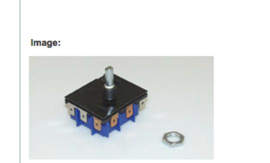 Fisher Paykel Control switch energy regulator Dual For cooktop BI602CTE, B1602CTE, BI603CTE, B1603CTE,