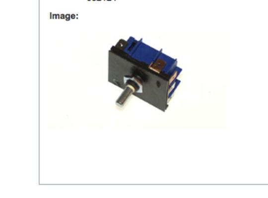 Fisher Paykel Control switch energy regulator single  For cooktop BI602CTE, B1602CTE, BI603CTE, B1603CTE,