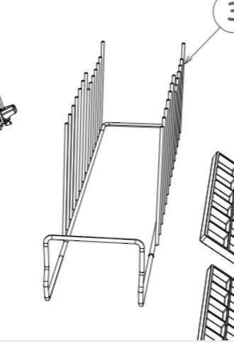 Fisher Paykel Dishdraw Dish Draw dish rack basket DD60DAW8, DD60DAX8, DD60DAW9, DD60DAX9, DD60DCW9, DD60DCX9, DD60SAX9, DD60SCW9
