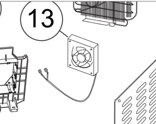 Fisher paykel chest Freezer Fan Motor RC719W1, RC143W1, RC201W1, RC376W1, RC519W1,